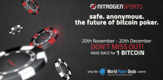 1 BTC Nitrogen Sports private rake race from November 20