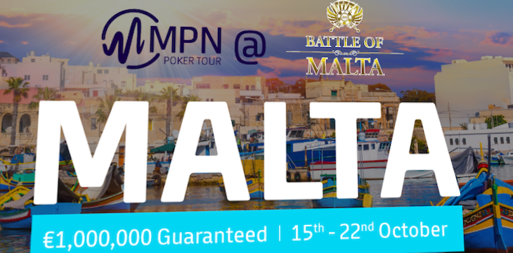 MPN confirms the Battle of Malta 2019 schedule: €1M GTD Main Event