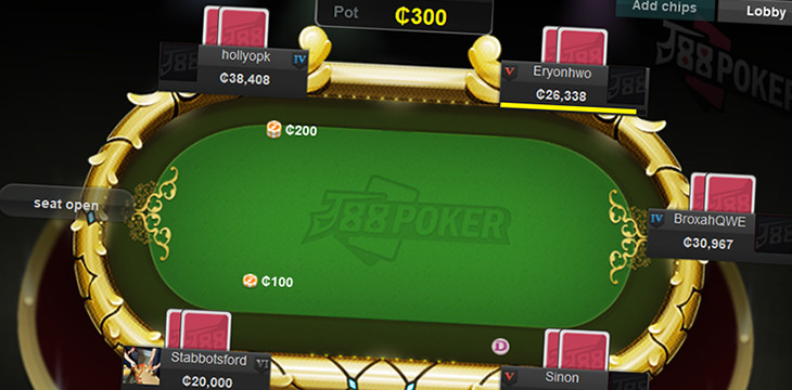J88 Poker: the best side poker room with Chinese players