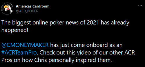 Americas Cardroom recruits Chris Moneymaker as ambassador