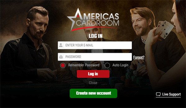 Americas Cardroom New Account