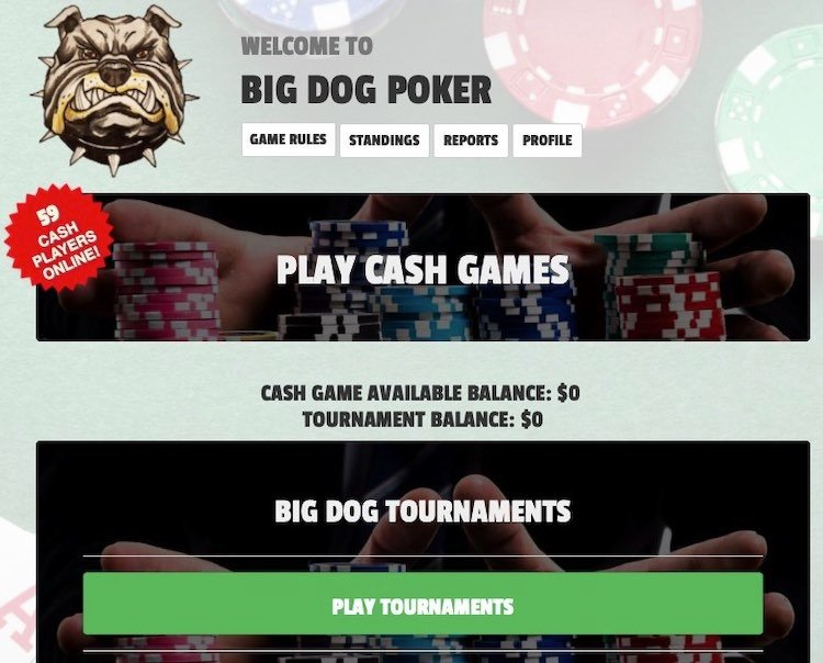 Big Dog Poker Lobby