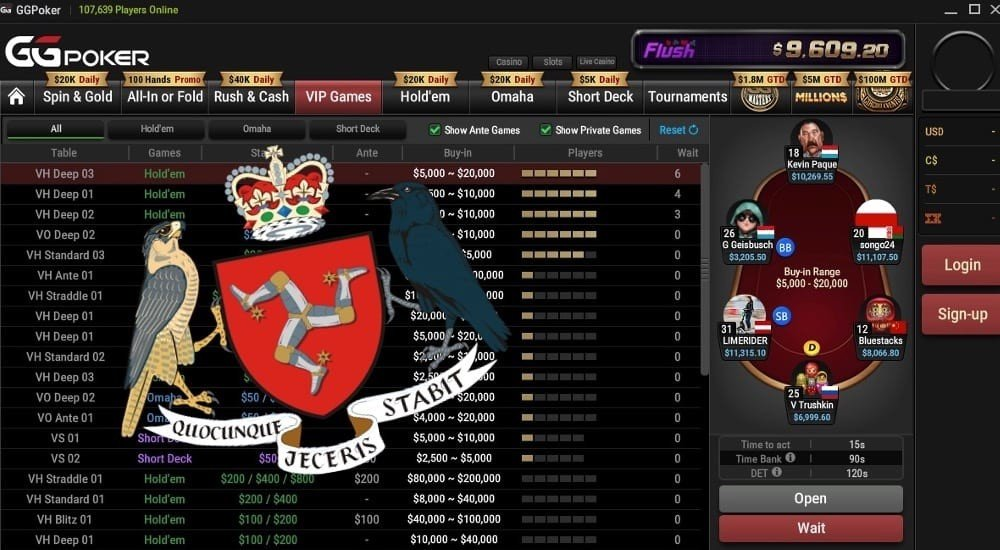 GGPoker to switch its gambling license from Curacao to the Isle of Man