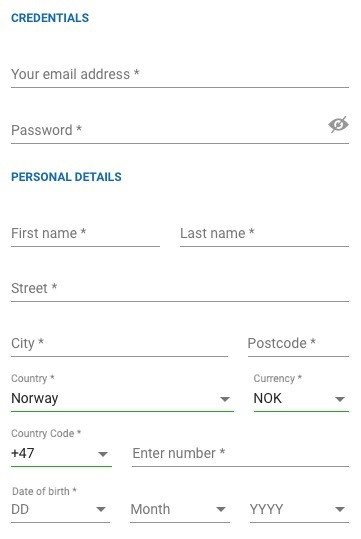 NordicBetPoker Form