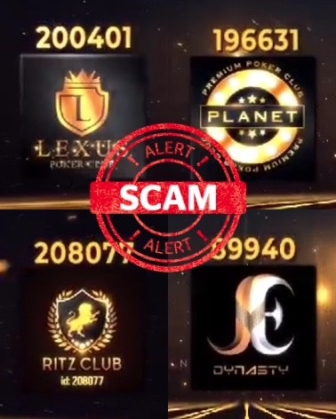 Poker apps scammers