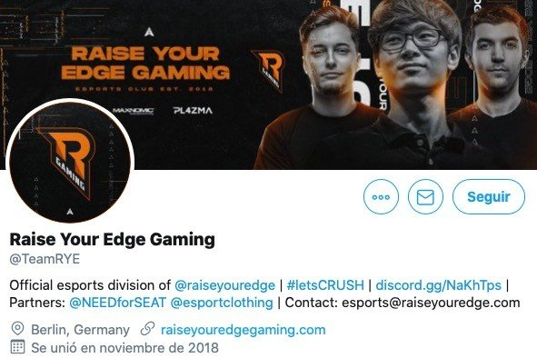 Raise Your Edge Gaming Esports Team