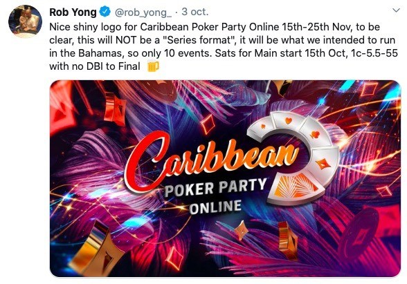 Rob Yong Caribbean Poker Party Online