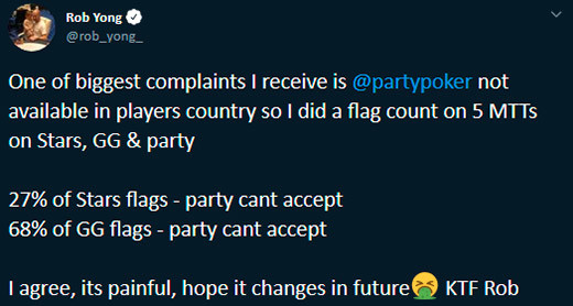 Ron Yong partypoker Countries
