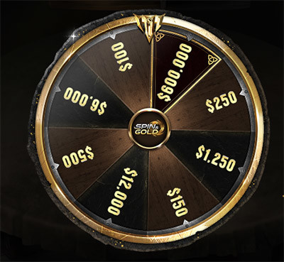 GGPoker Spin & Gold Wheel
