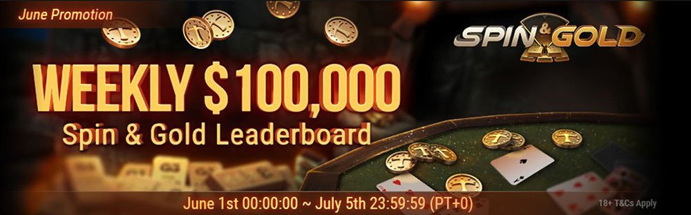 Weekly $100,000 Spin&Gold Leaderboard