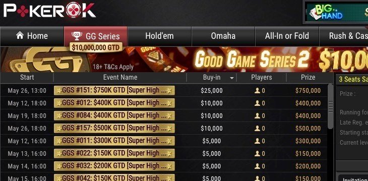 Over $10MUSD GTD in the Good Game Series 2 on GG Network